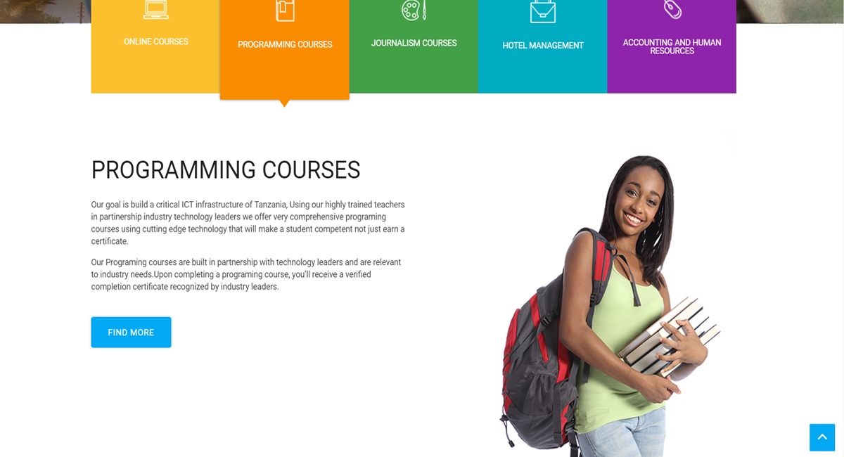 portfolio Genesis College of Social Science Website