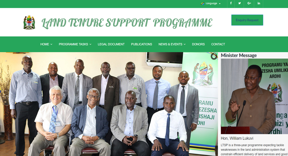 portfolio Land Tenure Support Programme Website